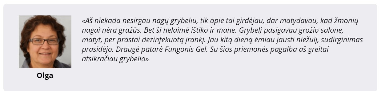 atsiliepimai apie Fungonis Gel