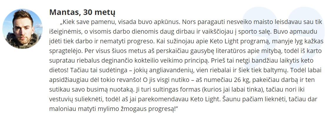 atsiliepimai apie Keto Light +