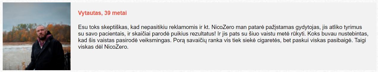 Nicozero atsiliepimai apie