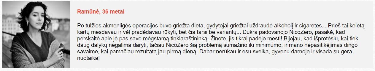 atsiliepimai apie Nicozero