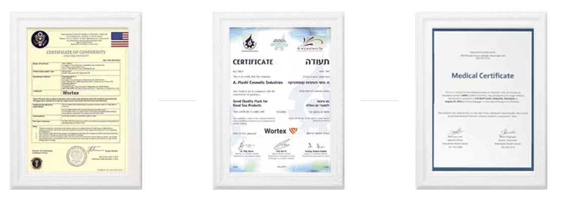 Wortex sertifikatai