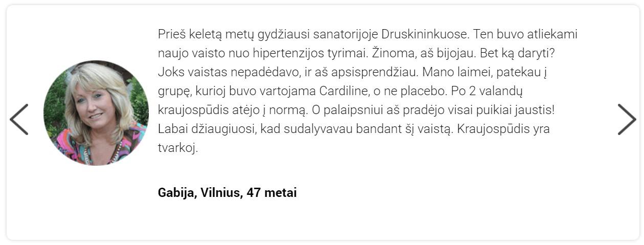 atsiliepimai apie Cardiline