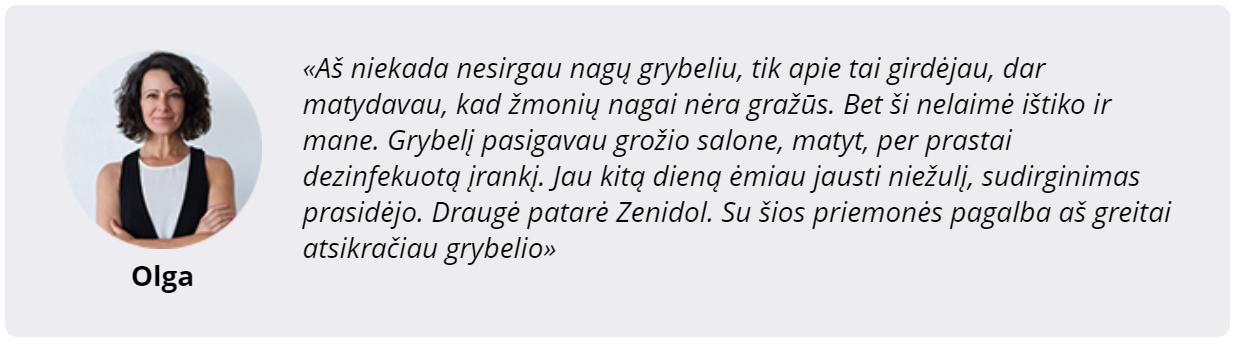 atsiliepimai apie Zenidol