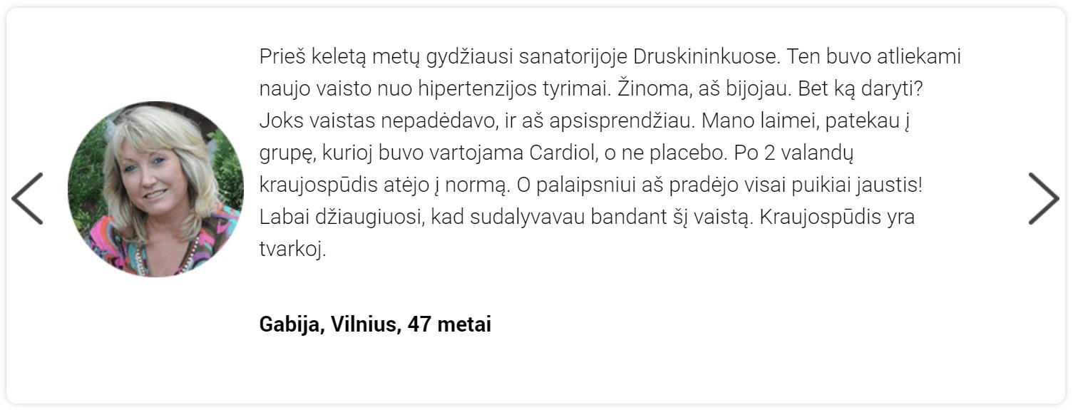 atsiliepimai apie Cardiol